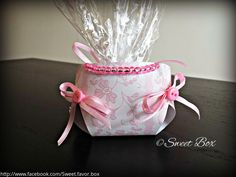 Diaper favor box, baby shower party favors