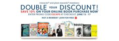 Chapters Double Your Discount. Ends on Friday!