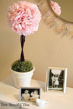 Pink Peony Topiary Tutorial