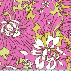 Amy Butler Daisy Chain Wildflowers Rose - Discount Designer Fabric - Fabric.com