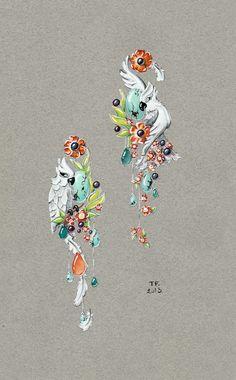 GiftJewelryShop Beautiful Bird On Shinning Heart Peridot Crystal August Birthstone Flower Dangle Charm Bracelets