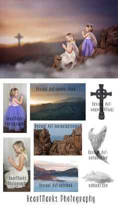 Tell it on the Mountain Photoshop Composite by HeartMarks Photography | Tutorial from Tara Lesher Photography