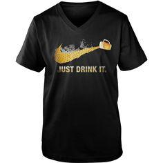 Just drink it nike guy v-neck