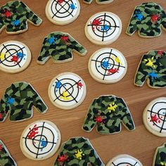 """Camo shirts were so fun! Have a """"blast"""" at paintball… Paintball Birthday Party, 9th Birthday, Happy Birthday, Birthday Parties, Car Centerpieces, Bar Mitzvah Centerpieces, Art Of Manliness, Nov 21, Cakes For Men"""