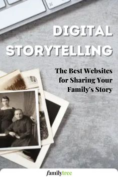 Digital storytelling websites let you post a photo and tell its tale online, sharing your pictographic history with the world. Top Site, Digital Storytelling, Genealogy Research, Best Sites, Cool Websites, Family History, Polaroid Film, How To Plan, Genealogy