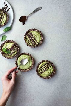Mint Chocolate Mini Tarts