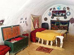 Matmata, berber, Tunisia Inside an underground home.