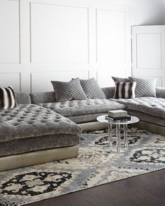 Galvin Three-Piece Sectional Sofa by Old Hickory Tannery at Neiman Marcus.