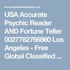 Horoscopes Tarot Psychics Metaphysical Los Angeles, Young Psychic offers genuine psychic readings , direct and straight to the point , readings will help to solve the unsol. Fortune Teller, Psychic Readings, Horoscope, Tarot, Ads, Free, Zodiac, Tarot Cards, Tarot Decks