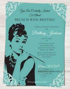 Loving this Brunch at Tiffany's inspired bridal shower invite | Bridal Shower Invite Ideas | Confetti Daydreams ♥  ♥  ♥ LIKE US ON FB: www.facebook.com/confettidaydream