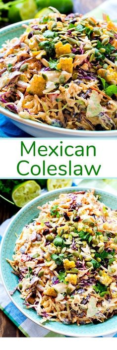 a creamy coleslaw flavored with taco seasoning. Mexican Coleslaw- a creamy coleslaw flavored with taco seasoning.Coleslaw- a creamy coleslaw flavored with taco seasoning. Mexican Coleslaw- a creamy coleslaw flavored with taco seasoning. Pasta Recipes, New Recipes, Vegetarian Recipes, Dinner Recipes, Cooking Recipes, Favorite Recipes, Healthy Recipes, Vegetarian Mexican, Freezer Recipes