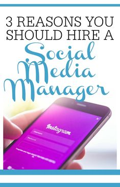 3 reasons you should hire a social media manager