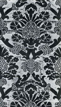 Italian woven silk velvet textile design, 16th century (The Textile Blog)