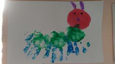 Hungry Caterpillar Hand Art!