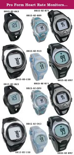 Pro Form Heart Rate Monitors - Pro Trainer, Men's Black/Silver. (SEE AVAILABILITY ABOVE FOR ESTIMATED DELIVERY) - Pro Form Heart Rate Monitors - Pro Trainer, Men's Black/Silver - Pro Form Heart Rate Monitors - Pro Trainer. Strapless heart rate monitor with calorie counter. Quick Touch technology for accurate readings. Includes: time of day, calendar settings, 100 - hour stopwatch & audible/visual alarm. - Rolyan products are internationally licensed & manufactured for home & clinical use....