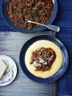 Beef shin ragu with creamy polenta