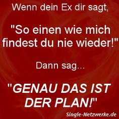Ex:You'll never find someone like me! Me:That's the plan! Single Sein, German Quotes, Someone Like Me, How To Get, How To Plan, Funny Quotes, Jokes, Cards Against Humanity, Humor