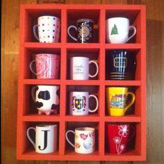 Coffee mug display shelf!