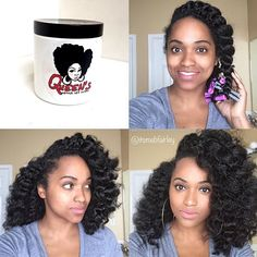 By @itsmebfairley ✨Chunky Flat Twist Out with perm rods ✨ Using #queenqd  Queen's Custard ✨
