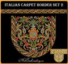Italian 16 Century Carpet Borders Set 2  by ArtEmbroideryDesigns