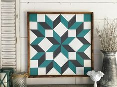 Barn Quilt outdoor barn quilt barn quilt 2 x 2 barn quilt patterns barn quilt sign wood barn quilt carpenters wheel barn quilt patriotic Barn Quilt Designs, Barn Quilt Patterns, Pattern Blocks, Quilting Designs, Quilting Projects, Sunflower Quilts, Sunflower Art, Painted Barn Quilts, Barn Art