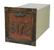 Streetscape Gateway Recessed Mailbox Address Numbers