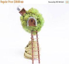 20% Off Storewide Miniature Fantasy Tree House Fairy Garden