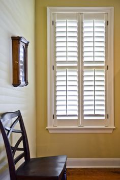 Simple and clean lines are part of the appeal of plantation shutters. #simplicity
