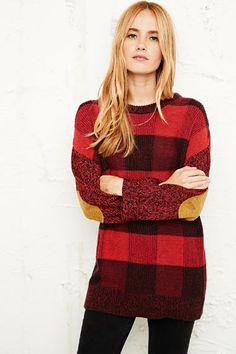 BDG red checked jumper for Urban Outfitters #tartan #fashion #trends
