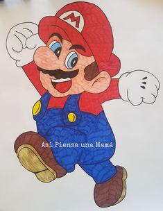 Decoración de cumpleaños infantil con Mario Bros, Bowser y Yoshi. Birthday diy decorations Minions, Mario Y Luigi, Diy Y Manualidades, O Pokemon, Yoshi, Birthday, Nintendo, Fictional Characters, Friends