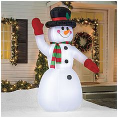 8' Inflatable Snowman at Big Lots.
