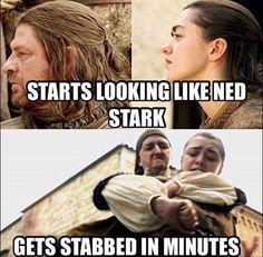 Game of Thrones funny meme. Yes but she's not played by Sean Bean