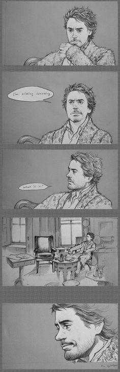 I like sad mood.. But I don't want to see sad Holmes. I hope he's happy! .................Sometimes........ sad also good Anyway, I Robert Holmes<3