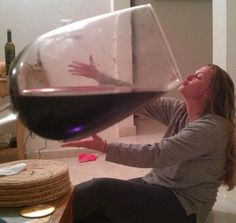 It's 5 o'clock somewhere, right? LOL clever trick photography. Wine Lovers UNITE.