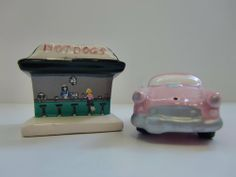 Drive in Salt & Pepper Set by Five & Dime Inc. $15.00. collectible S&P Set