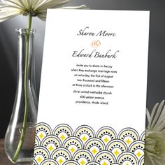 Art Deco inspired Wedding Invitation at a great price. Find it here http://www.einvite.com/product/detail/WSP-XUO-UENS.html