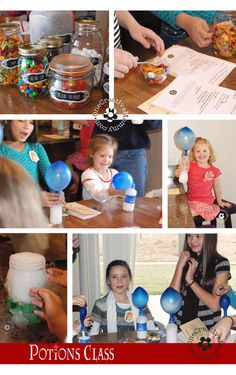Harry Potter Party Games, Tutorials and Printables . . . Potions Balloons {OneCreativeMommy.com} #harrypotterpart...
