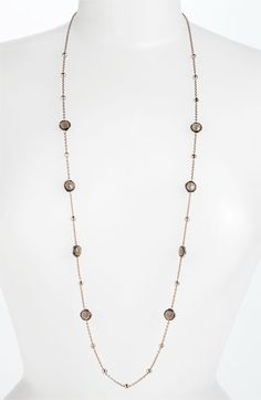 """Ippolita 'Rock Candy - Mini Lollipop' Rosé Long Necklace available at #Nordstrom<338""""long895.((Great for Layering   Love Ippolita! Bought this in the turquoise and clear and they are dazzling! Long enough to be doubled. Understated elegance can be worn with a LBD or t-shirt and jeans. Great pieces for layering))"""