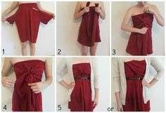 This is how you do it! Making t-shirt into dress.