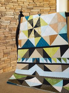 Forest Floor Quilt Kit: Bring the colors of nature indoors with this innovative quilt designed by Kelly Eisinger. Quilting Projects, Quilting Designs, Lap Quilts, Forest Floor, How To Finish A Quilt, Quilt Kits, Machine Quilting, Digital Pattern, Quilt Patterns