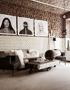 The fab industrial style atelier of a creative  #currentlycoveting #holidays2015 #holidaze #holidaystyle