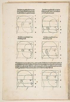 Illustration and Text from Dürers Vier Bucher von Menslicher Proportion, Nuremberg, 1528