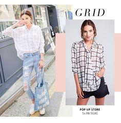 A estampa Grid é uma das mais estilosas do inverno