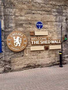 The Shed End wall - Chelsea FC