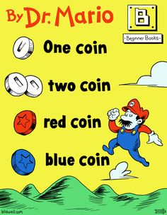 It's important to find what kids are interested in and use it to teach. How about money with Mario!