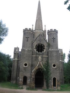 Abney Park Chapel at the Abney Park Cemetery in the borough of Hackney, London, UK-Visitable
