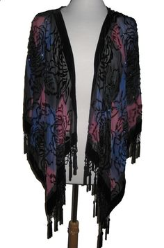 Clothes for Romantic Night - Clothes for Romantic Night - Beaded Short Jacket Cover Up in Blue and Pink: Western Wear | Women Western Clothing | Western Apparel Clothing - If you are planning an unforgettable night with your lover, you can not stop reading this! - If you are planning an unforgettable night with your lover, you can not stop reading this!