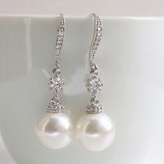Bridal Pearl Jewelry Wedding Jewelry Cubic by poetryjewelry