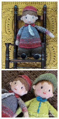 Knitting Patterns Free, Free Knitting, Crochet Patterns, Doll Toys, Dolls, Knit Crochet, Crochet Hats, Softies, Doll Accessories