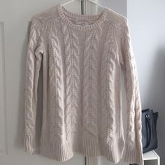 Loft cables it sweater Super soft comfy sweater that I never actually reached for this winter. As much as I love it I think someone can love it more so I'm selling.. LOFT Sweaters Crew & Scoop Necks